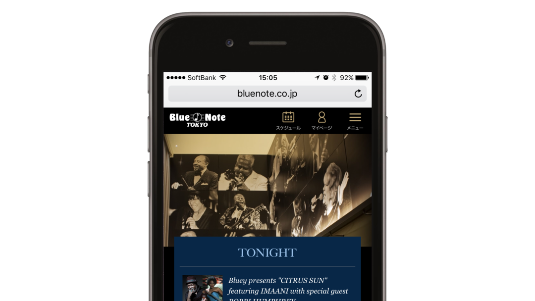 Blue Note Tokyo SMART PHONE WEB SITE